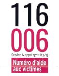 116 006 – NUMERO D'AIDE AUX VICTIMES
